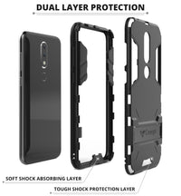 Ceego Stealth Defence Back Case for Nokia 6.1 Plus  – Matte Black