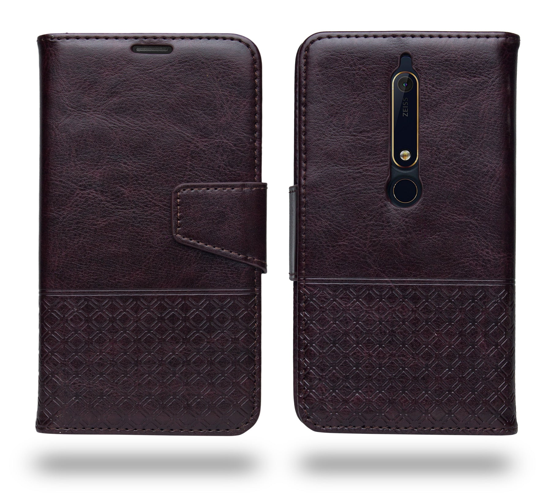 Ceego Luxuria Flip Cover for Nokia 6.1  / Nokia 6 (2018) - Chestnut Brown