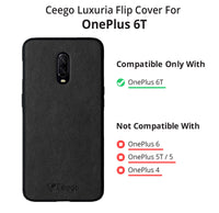Ceego Elita Ultra Slim Back Case for One Plus 6T (Greyish Black)