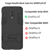 Ceego Stealth Defence Back Case for OnePlus 6T – Matte Black