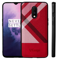 Ceego Elita Ultra Slim Back Case for OnePlus 7 (Abstract Pattern - Red)