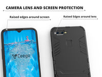 Ceego Stealth Defence Back Case for Oppo F9 Pro – Matte Black