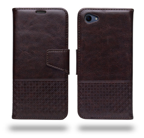 Ceego Luxuria Flip Cover for RealMe 1 - Chestnut Brown