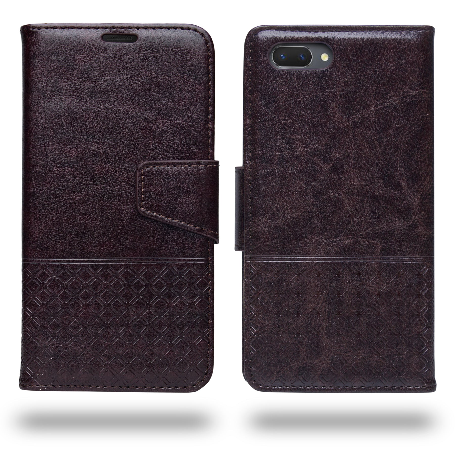 Ceego Luxuria Compact Wallet Flip Cover for RealMe 2 (Chestnut Brown)