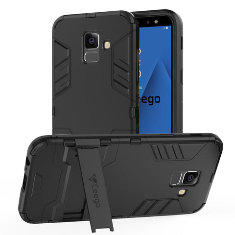 Ceego Stealth Defence Back Case for Samsung Galaxy A6  – Matte Black