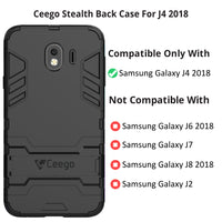 Ceego Stealth Defence Back Case for Samsung Galaxy J4 2018  – Matte Black