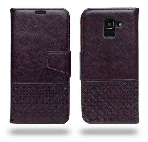 Ceego Luxuria Flip Cover for Samsung Galaxy J6 2018 - Chestnut Brown