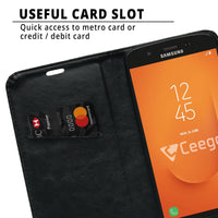 Ceego Flip Cover for Samsung Galaxy J7 Prime 2  (Black)