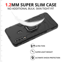 Ceego Stealth Defence Back Case for Samsung Galaxy M40  – Matte Black