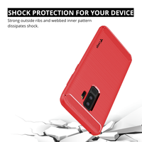 Ceego Carbon Fiber Shield Back Case for Samsung Galaxy S9 Plus  – Flaming Red