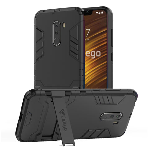 Ceego Stealth Defence Back Case for Xiaomi Pocophone f1 – Matte Black
