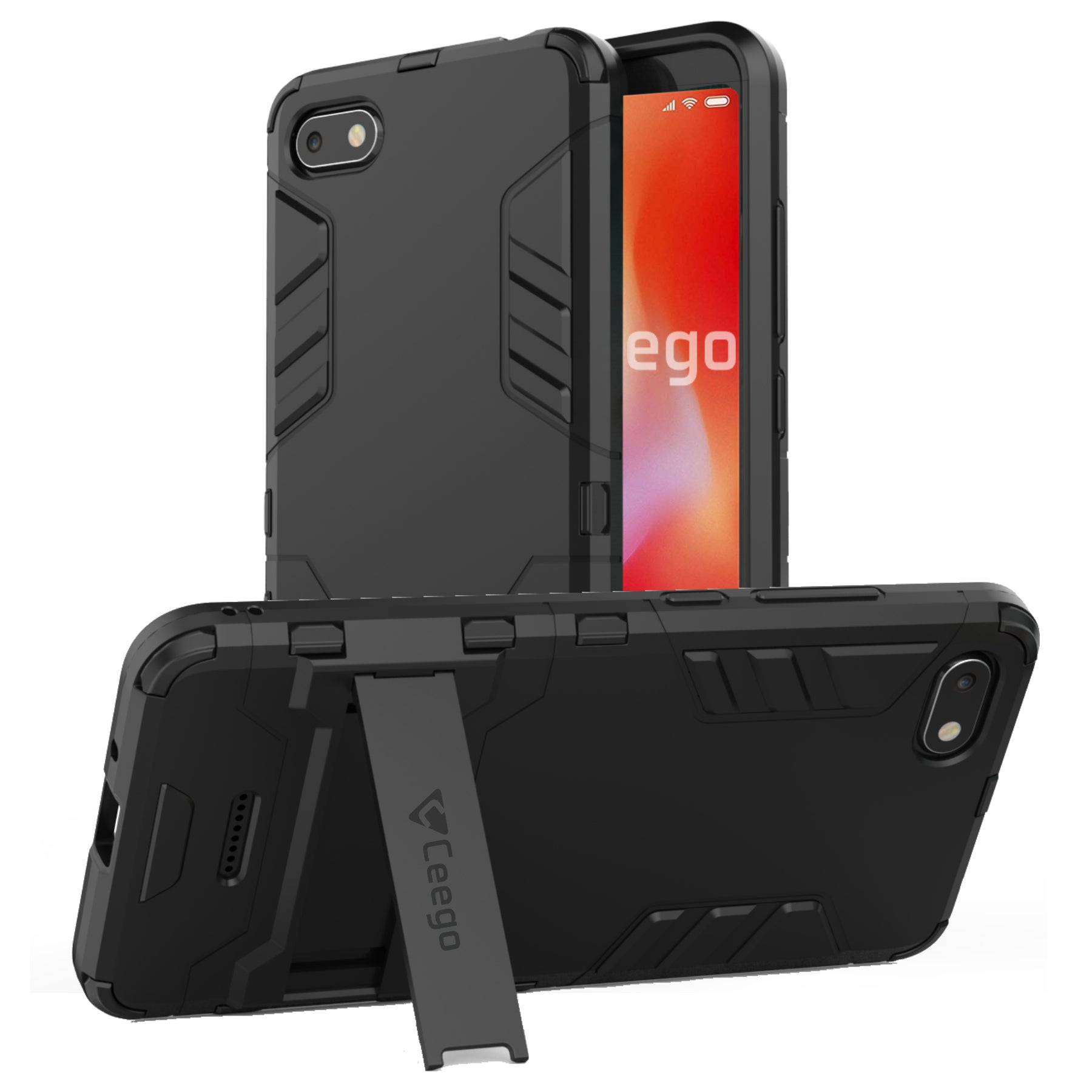 Ceego Stealth Defence Back Case for Xiaomi Redmi 6A – Matte Black