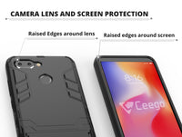 Ceego Stealth Defence Back Case for Xiaomi Redmi 6 – Matte Black