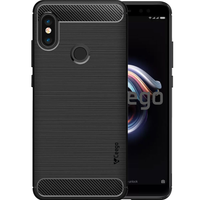 Ceego Carbon Fiber Shield Back Case for Xiaomi Redmi Note 5 Pro  –  Matte Black