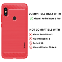 Ceego Carbon Fiber Shield Back Case for Xiaomi Redmi Note 5 Pro  –  Flaming Red