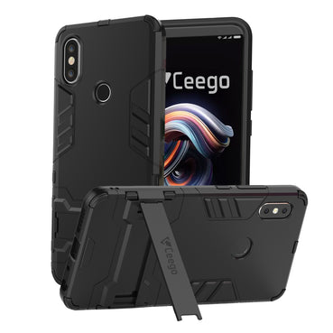 Ceego Stealth Defence Back Case for Xiaomi Redmi Note 5 Pro  – Matte Black