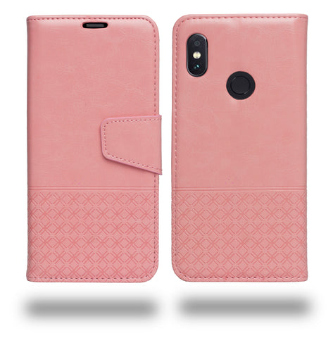Ceego Luxuria Wallet Flip Cover for Xiaomi Redmi Note 5 Pro (Carnation Pink -  Special Edition Color for Women & Girls )
