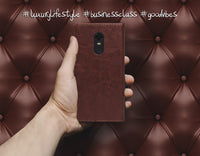 Ceego Luxuria Flip Cover for Xiaomi Redmi Note 5 - Brown & Black Fusion
