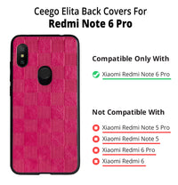 Ceego Elita Ultra Slim Back Case for Redmi Note 6 Pro (Hot Pink)