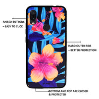 Ceego Back Cover for Xiaomi Redmi Note 7 / 7s / 7 Pro – 3D Printed (Blue Bloom)