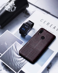 Ceego Luxuria Wallet Flip Cover for Xiaomi Redmi Note 7 / Redmi Note 7 Pro (Chestnut brown)