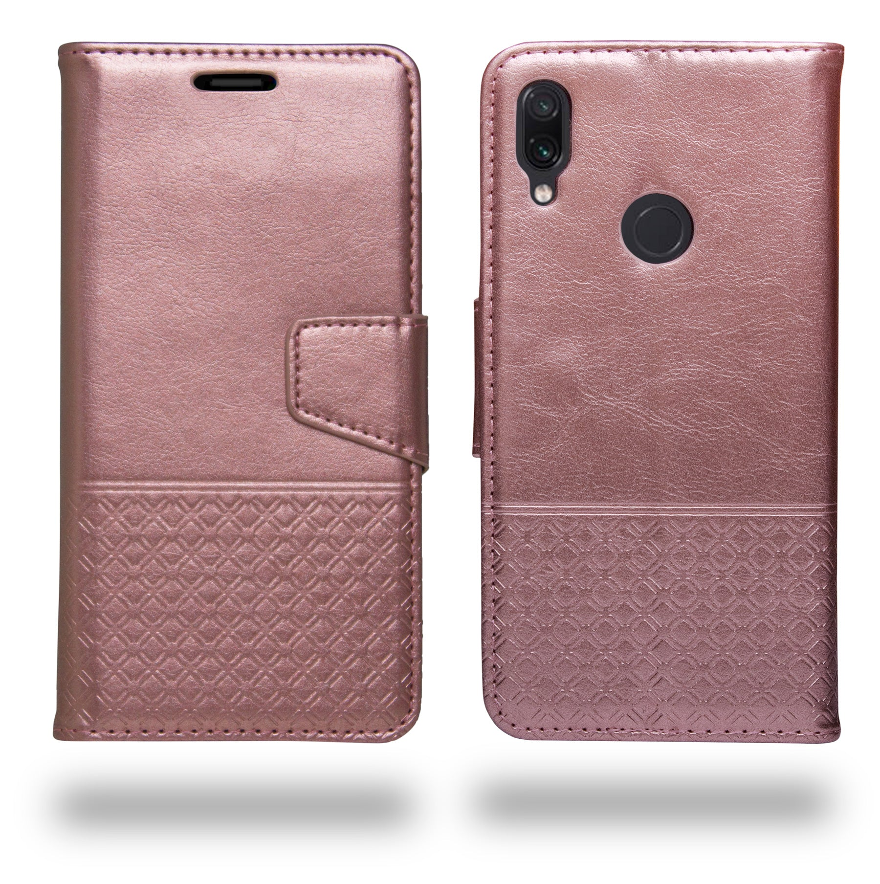 Ceego Luxuria Wallet Flip Cover for Xiaomi Redmi Note 7 / Redmi Note 7 Pro (Carnation Pink)