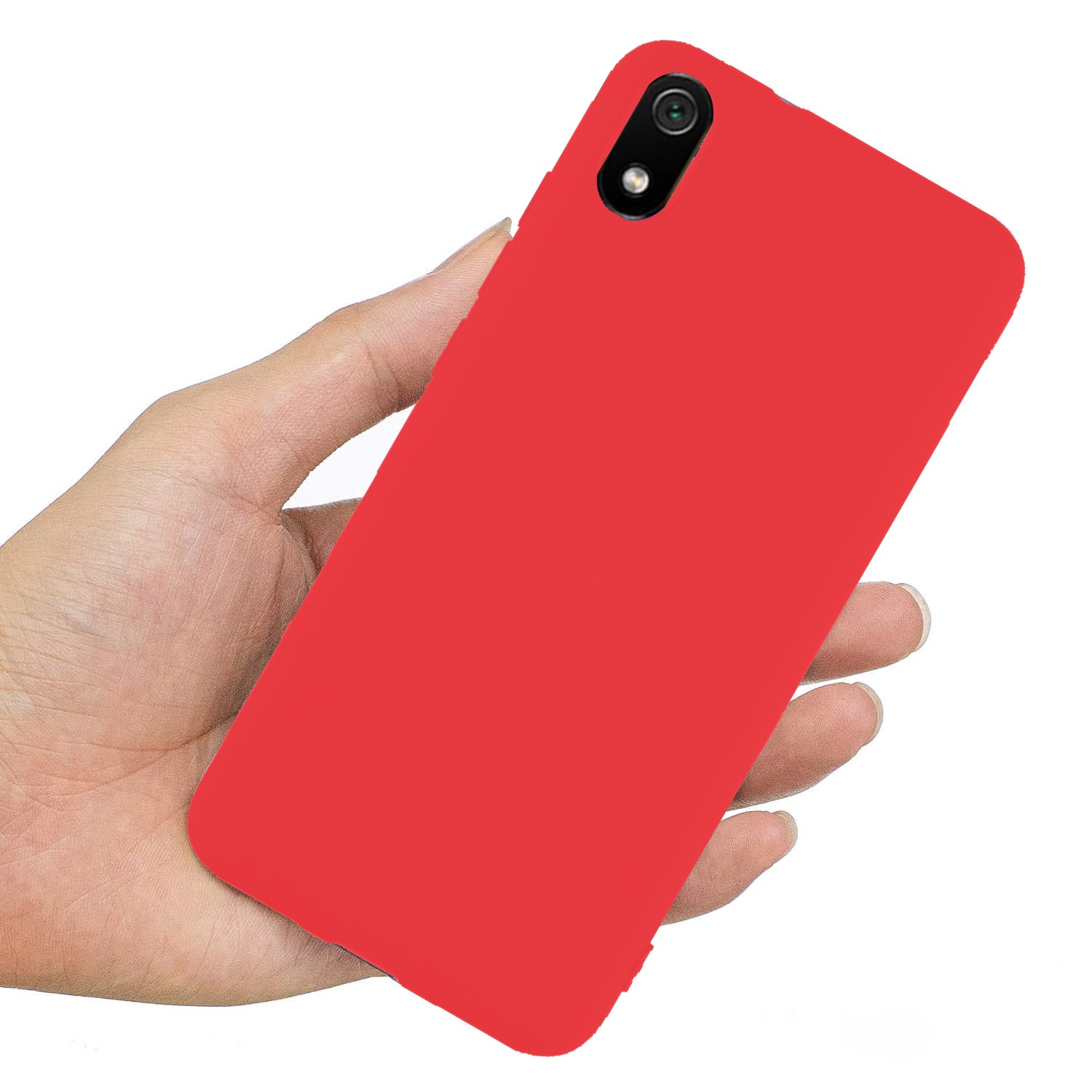 Ceego Back Cover for Xiaomi Redmi 7A - Thin Flexible Redmi 7A Case (Cherry Red)