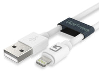 GoFree Charge & Sync Short USB Cable for Power Bank Charging - Compatible with Apple iPhone iPad & iPod