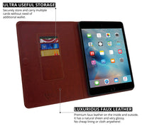 Ceego Luxuria Flip Cover for Apple iPad Pro 9.7 inch Tablet - Walnut Brown