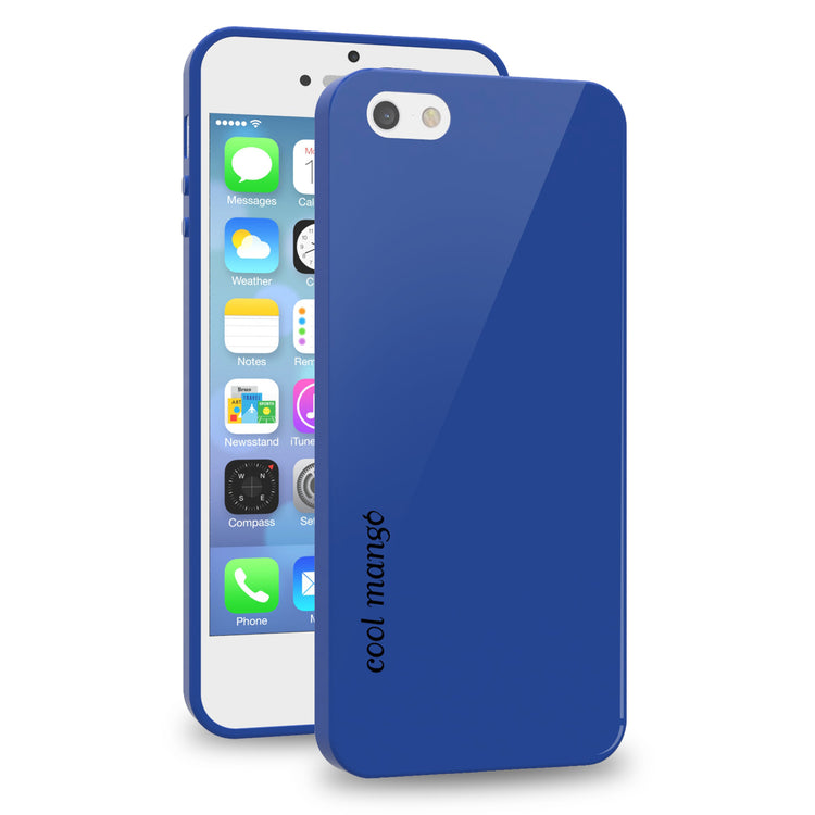 FlexiGel Back Cover for iPhone 5s / iPhone SE - Slim Fit, Flexible & Glossy – (Cobalt Blue)