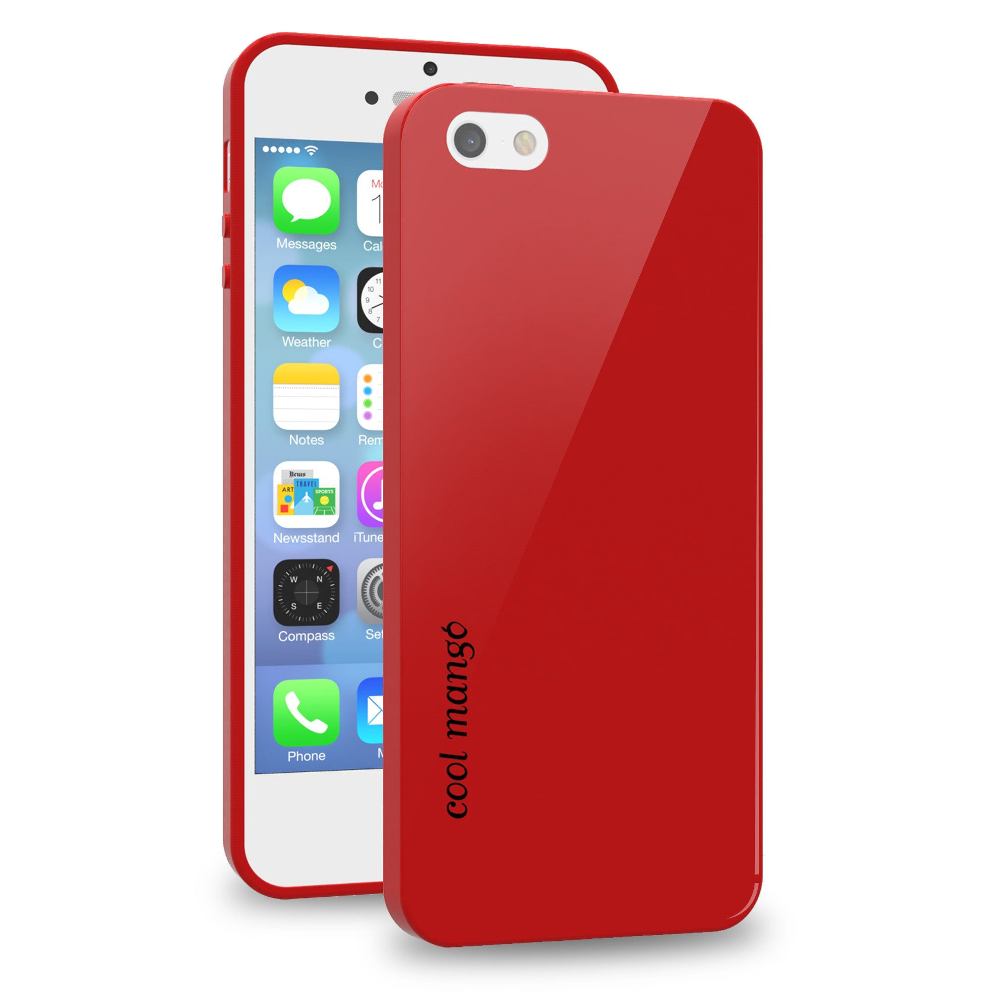 FlexiGel Back Cover for iPhone 5s / iPhone SE - Slim Fit, Flexible & Glossy – (Lava Red)