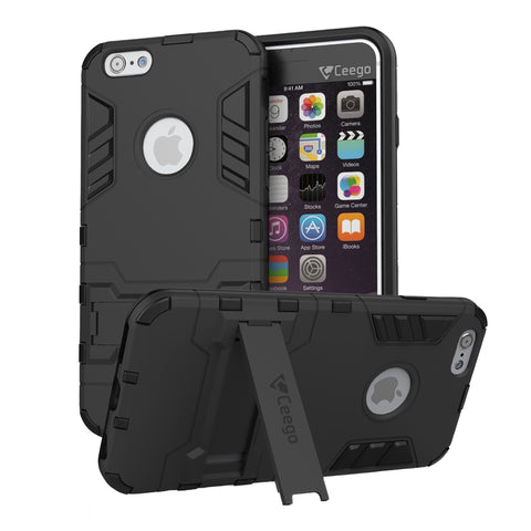Ceego Stealth Defence Back Case for Apple iPhone 6 / 6s  – Matte Black