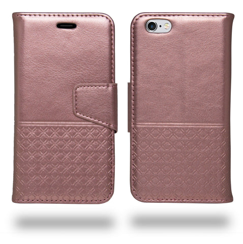 Ceego Luxuria Wallet Flip Cover for Apple iPhone 6s (Carnation Pink)