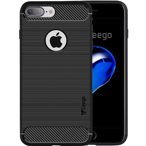 Ceego Carbon Fiber Shield Back Case for Apple iPhone 7 plus  – Matte Black