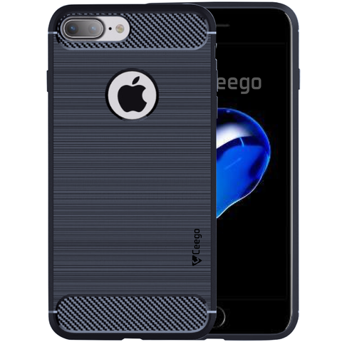 Ceego Carbon Fiber Shield Back Case for Apple iPhone 7 plus  – Midnight Blue