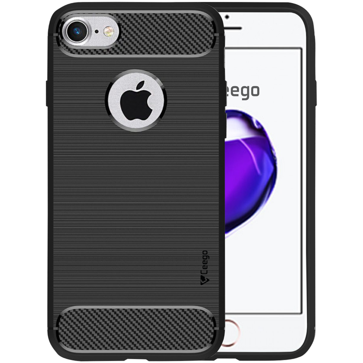 Ceego Carbon Fiber Shield Back Case for Apple iPhone 7  – Matte Black