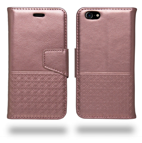 Ceego Luxuria Wallet Flip Cover for Apple iPhone 7 (Carnation Pink)
