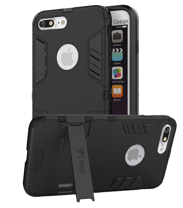 Ceego Stealth Defence Back Case for Apple iPhone 8 plus  – Matte Black