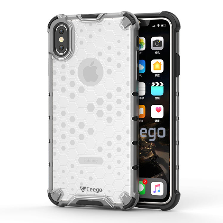Ceego Shock Protection iPhone X / iPhone XS Back Cover - HexaShell Series Back Cases & Cover for Apple iPhone X / Apple iPhone XS (Transparent Clear)