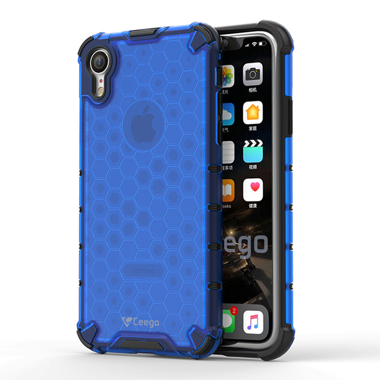 Ceego Shock Protection iPhone XR Back Cover - HexaShell Series Back Cases & Cover for Apple iPhone XR (Cobalt Blue)