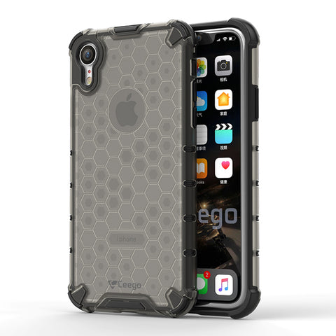 Ceego Shock Protection iPhone XR Back Cover - HexaShell Series Back Cases & Cover for Apple iPhone XR (Fossil Grey)
