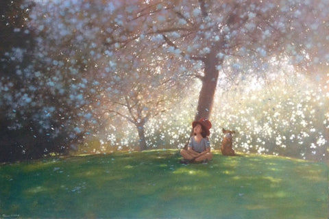 'Taking Shade, Beneath the Blossom Tree' ©- SOLD