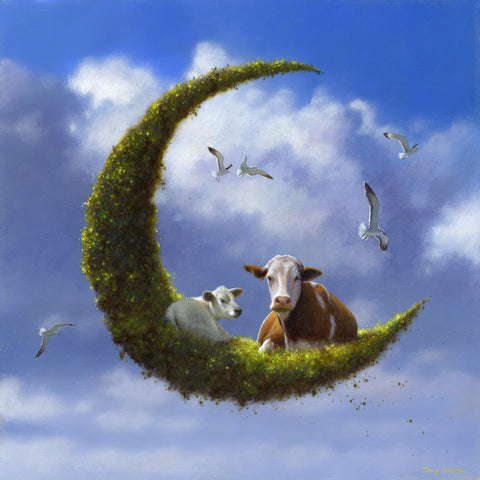 'The Cow & the Moon' © - Normally 120.00 euro
