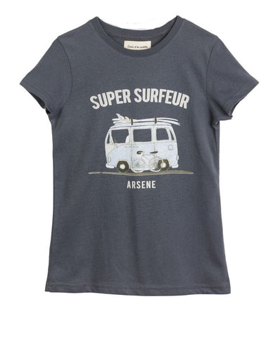 Boys Grey Perceval 'Surfeur' T Shirt