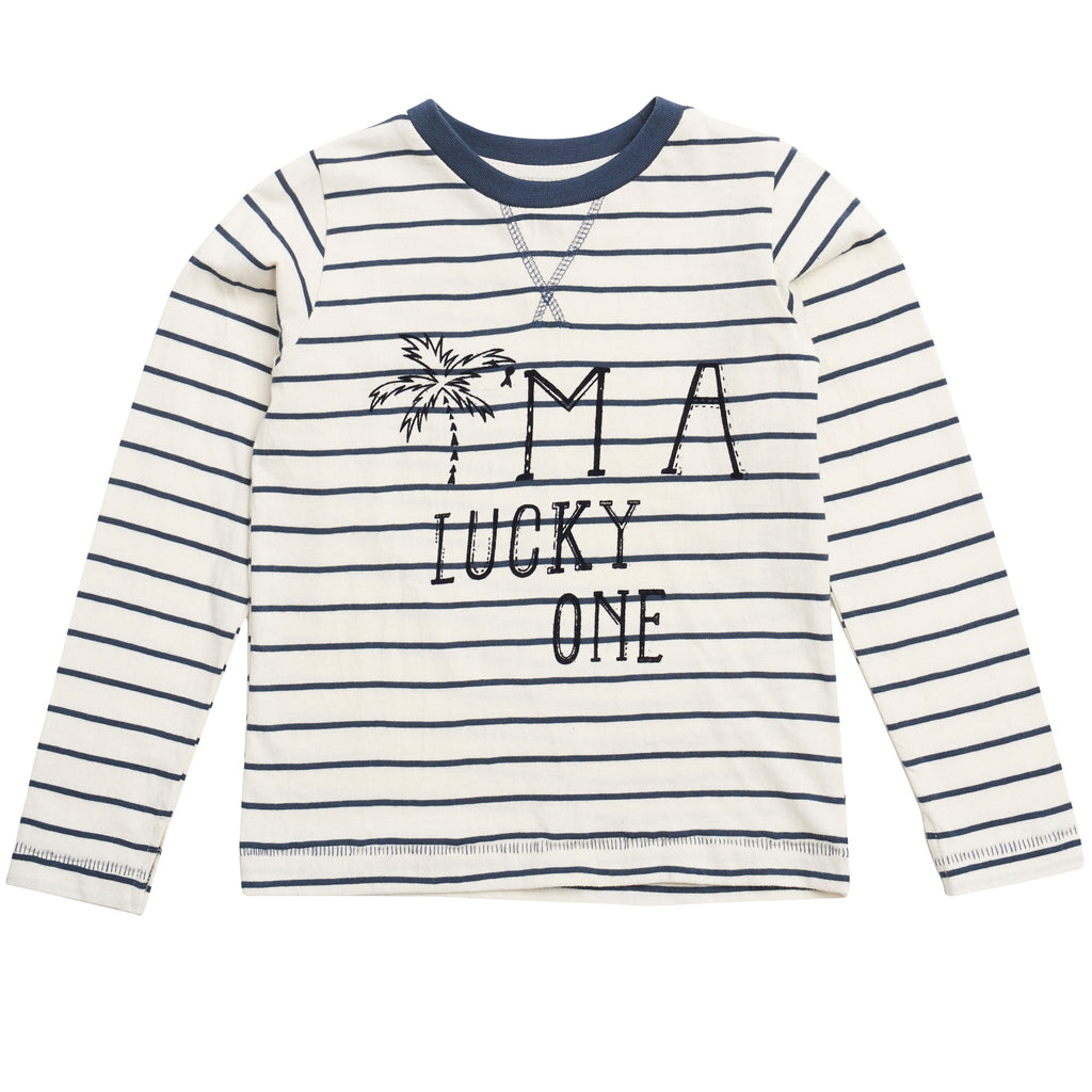 Boys Aslak Indigo Mood Striped Top