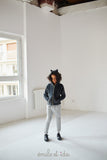 Girls Zipped Cat Hoodie