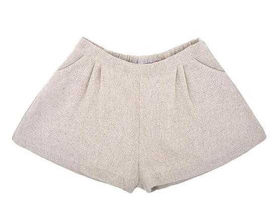 Girls Natural Linen Shorts