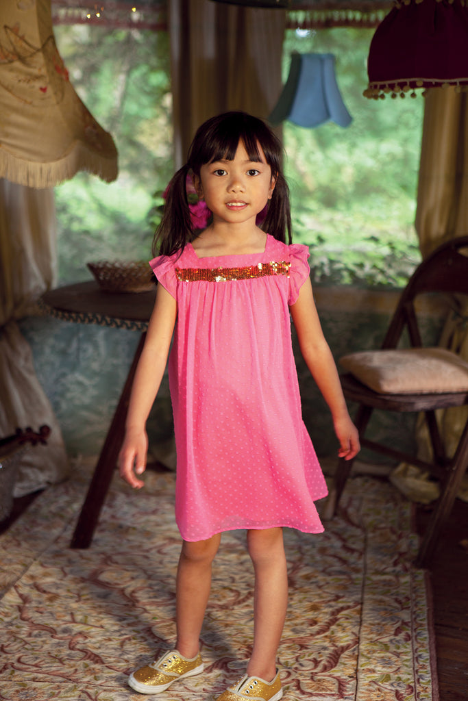 Girls Pink Alicia Dress