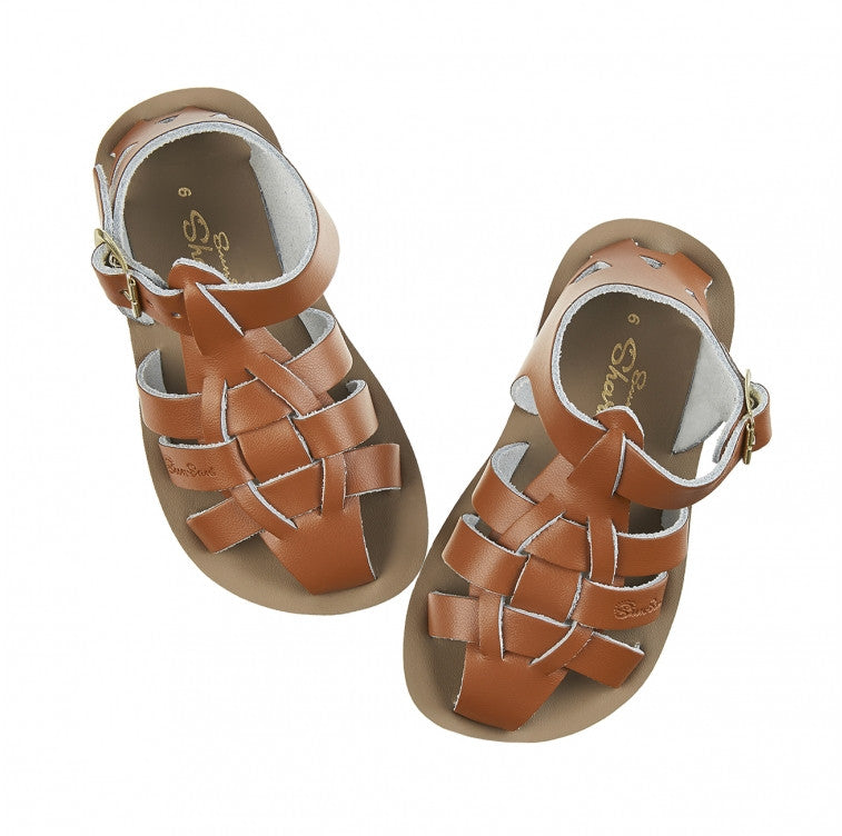 Boys Sun San Shark Tan Sandals