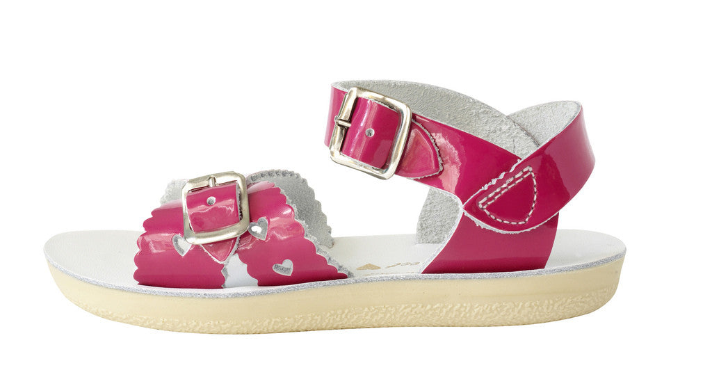 Girls Sun San Shiny Fushia Sweetheart Sandals